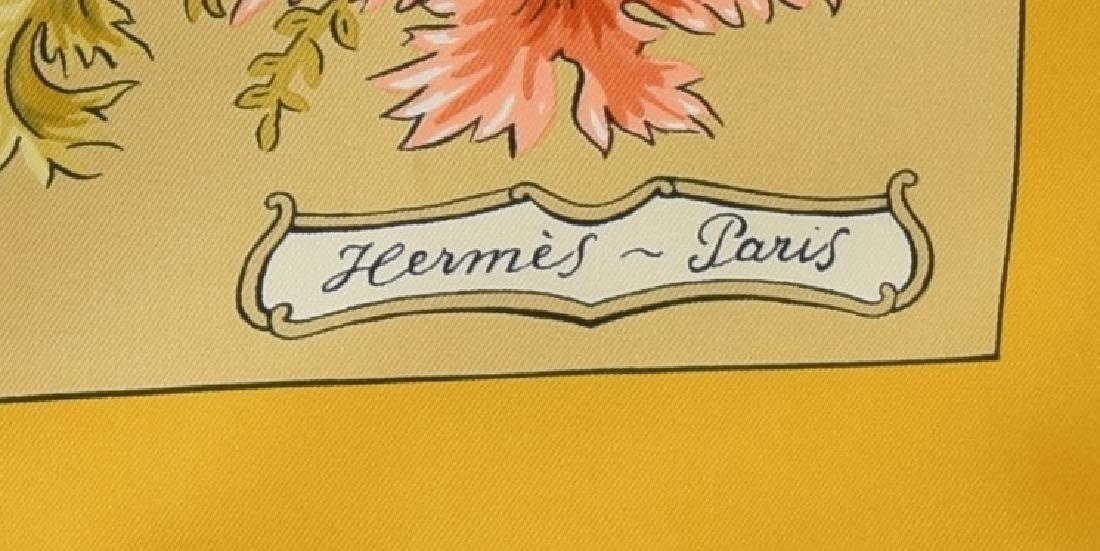 HERMES SILK TWILL SCARF, 'LES JARDINIERS DU ROY' - 3