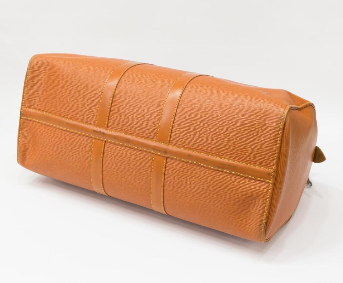 LOUIS VUITTON 'KEEPALL' EPI LEATHER DUFFLE BAG - 3