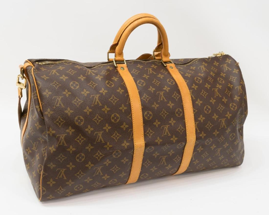 LOUIS VUITTON 'KEEPALL BANDOULIERE 55' DUFFLE BAG - 2