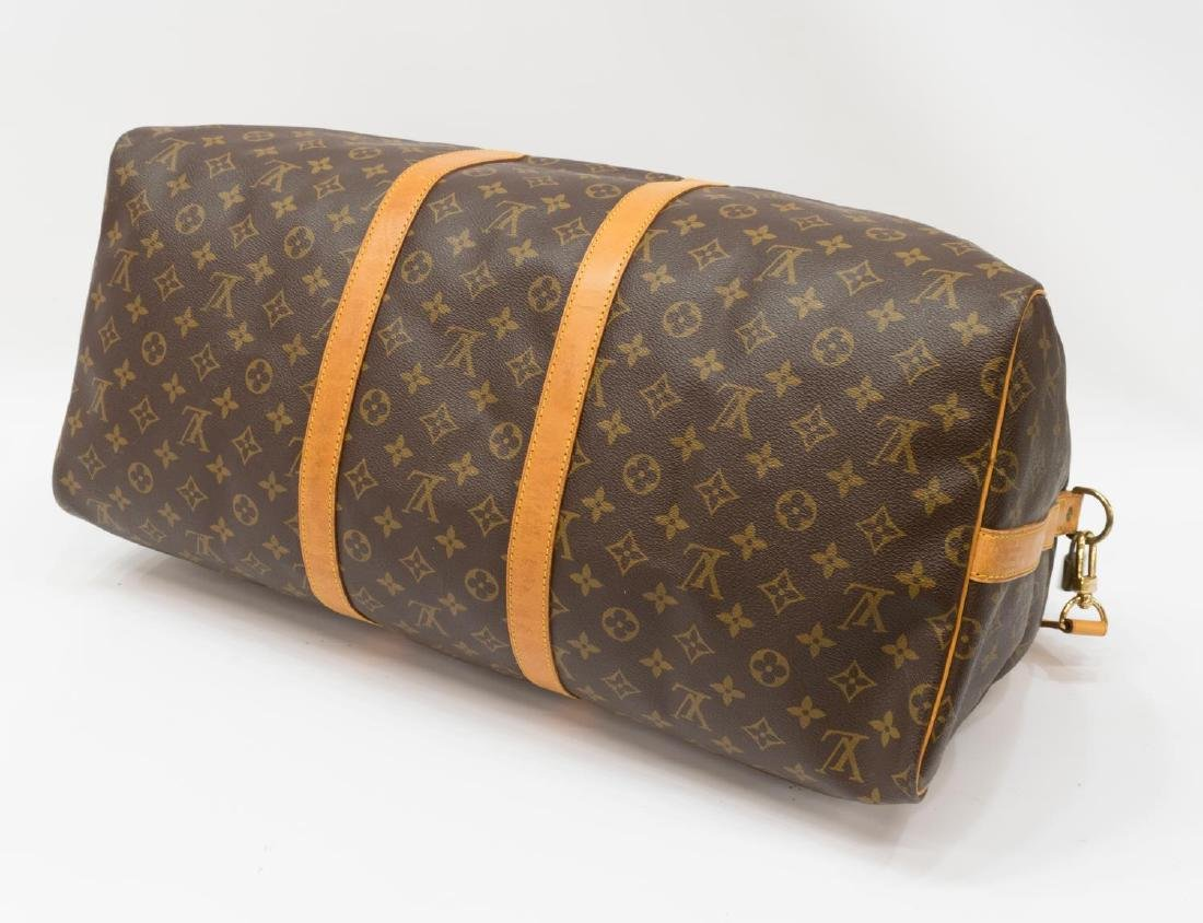 LOUIS VUITTON 'KEEPALL BANDOULIERE 55' DUFFLE BAG - 3