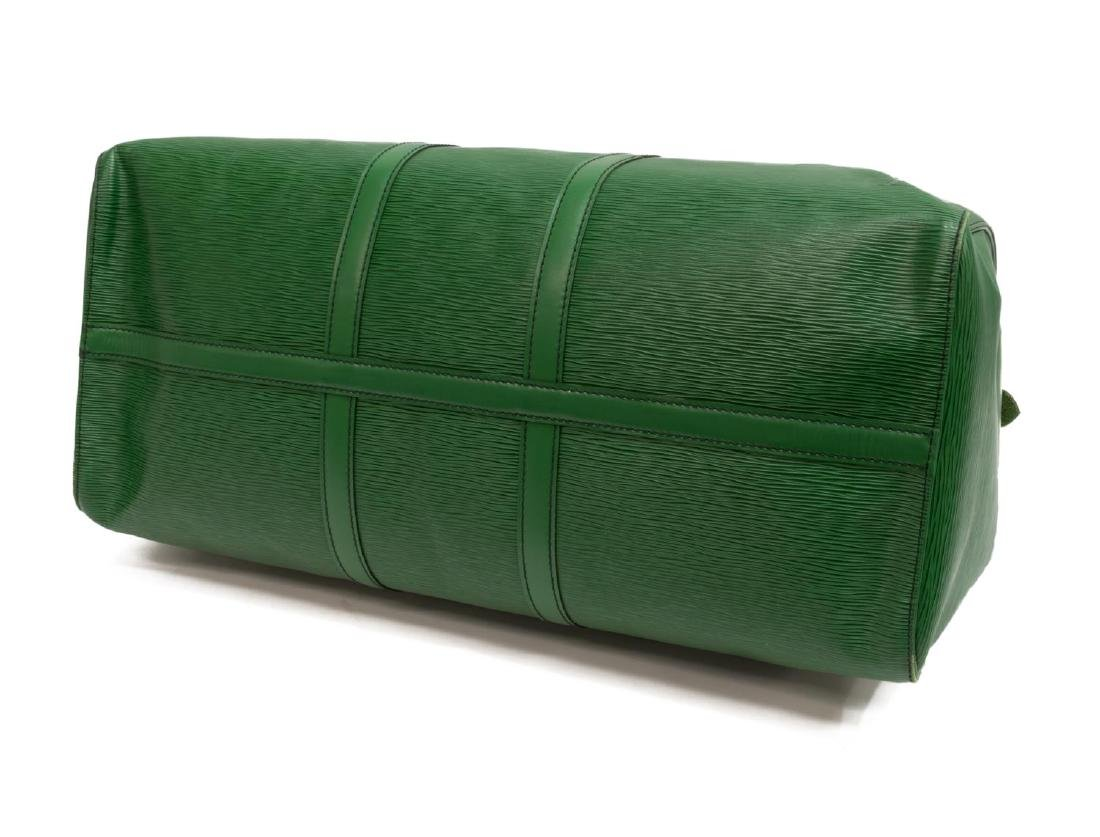 LOUIS VUITTON 'KEEPALL 55' GREEN EPI DUFFLE BAG - 3
