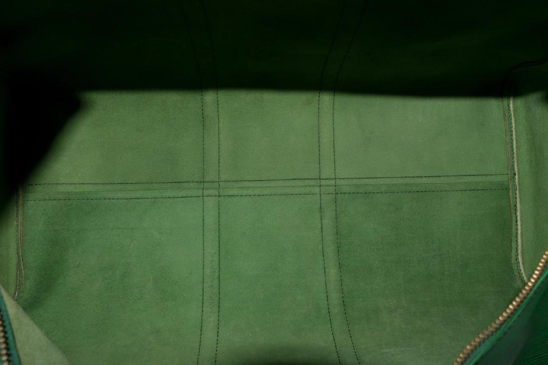 LOUIS VUITTON 'KEEPALL 55' GREEN EPI DUFFLE BAG - 4
