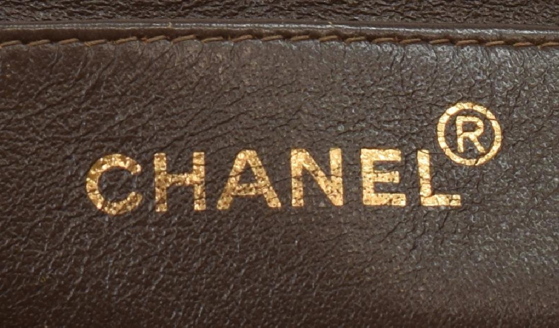 CHANEL 'JUMBO FLAP TOP' QUILTED BROWN SUEDE BAG - 4