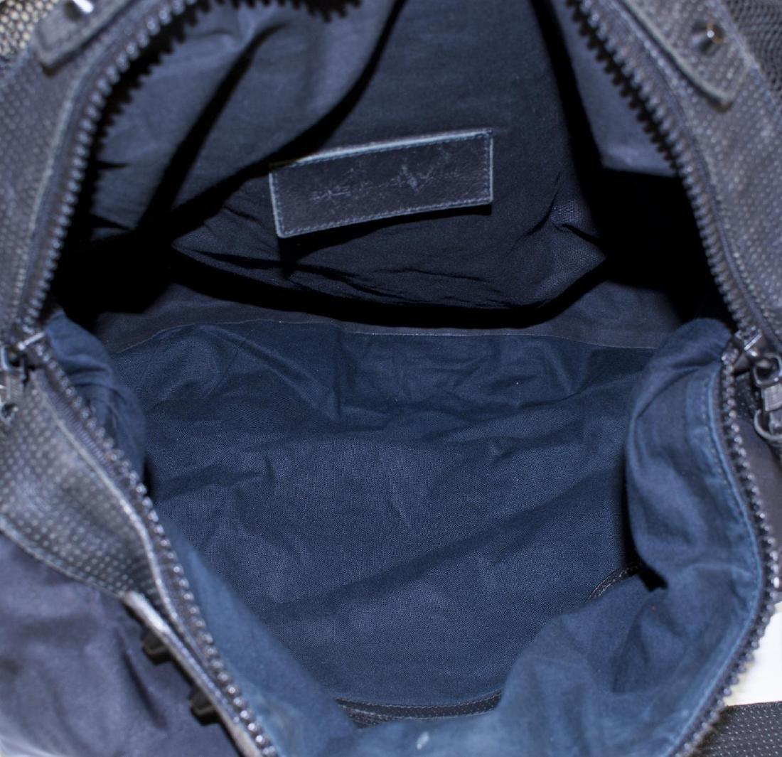 BALENCIAGA BLACK MESH & LEATHER CROSSBODY BAG - 4
