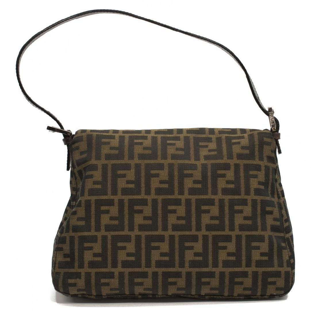 FENDI 'MAMA' BAGUETTE BROWN MONOGRAM CANVAS BAG - 2