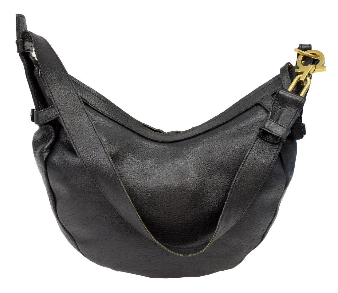 FERRAGAMO GRAINED & TEXTURED LEATHER SHOULDER BAG - 2