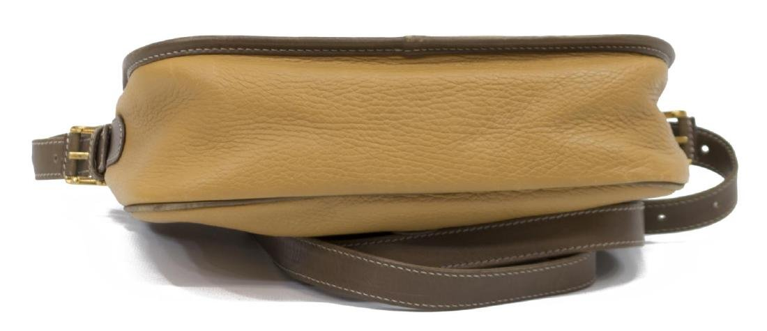 LOEWE YELLOW AND TAN LEATHER CROSS BODY BAG - 3
