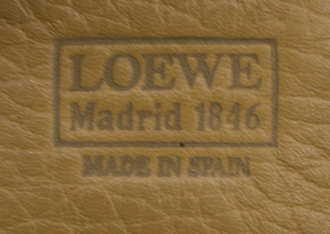 LOEWE YELLOW AND TAN LEATHER CROSS BODY BAG - 4
