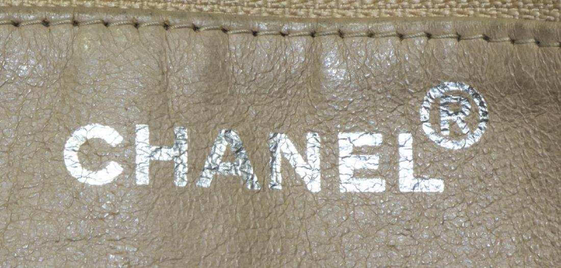 LARGE CHANEL SMOOTH BLACK LEATHER TOTE BAG - 5