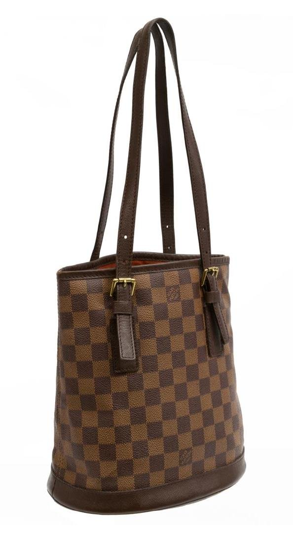 LOUIS VUITTON 'MARAIS' DAMIER EBENE CANVAS HANDBAG - 2