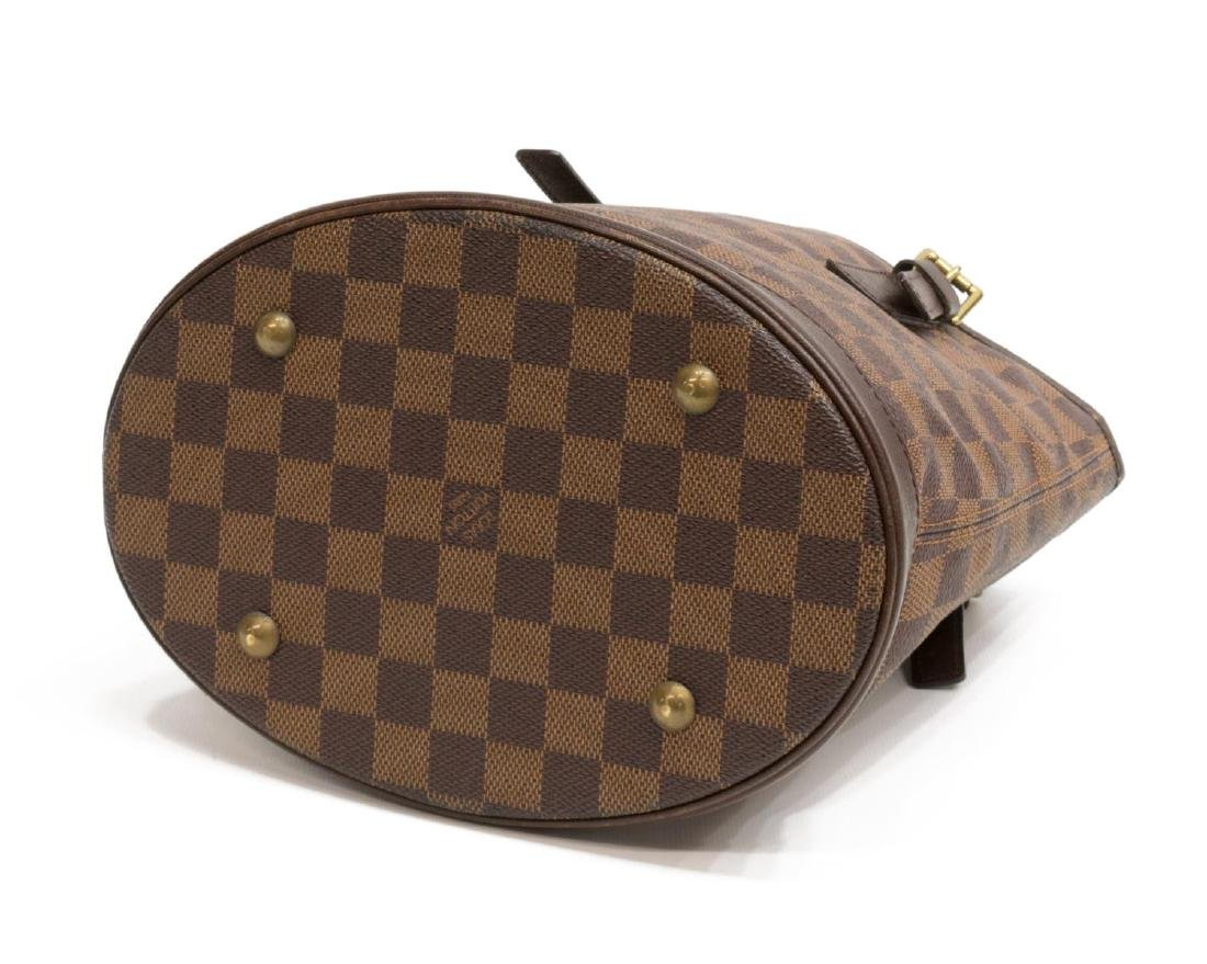 LOUIS VUITTON 'MARAIS' DAMIER EBENE CANVAS HANDBAG - 3