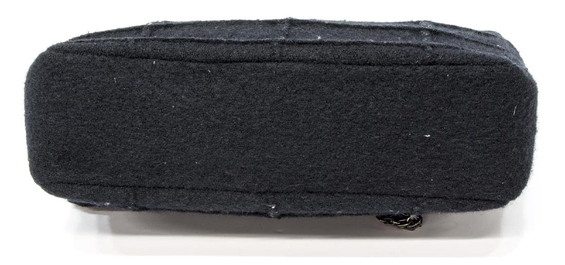 CHANEL 'IDENTIFICATION' BLACK QUILTED WOOL HANDBAG - 3