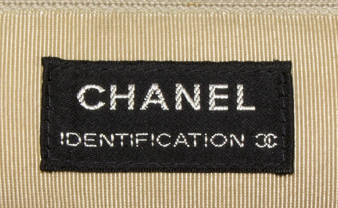 CHANEL 'IDENTIFICATION' BLACK QUILTED WOOL HANDBAG - 5