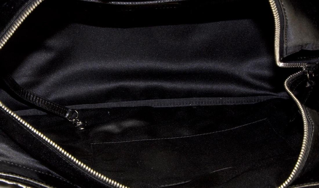CHANEL BLACK PATENT LEATHER LARGE CC TOTE - 4