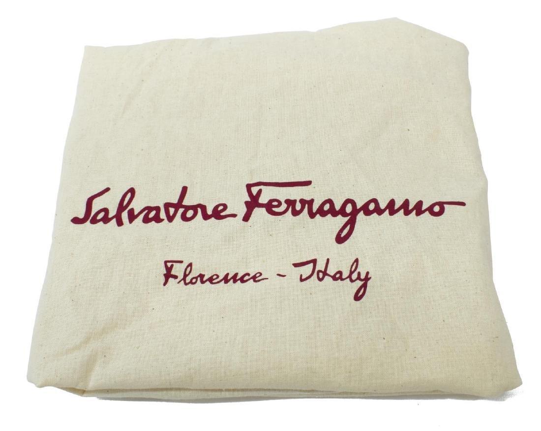SALVATORE FERRAGAMO METALLIC LEATHER HOBO BAG - 5