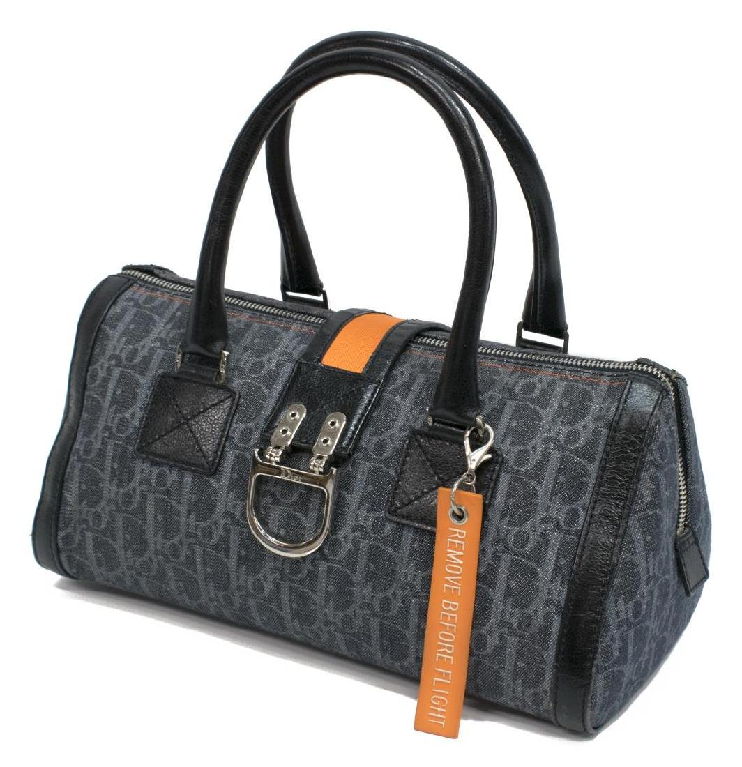 DIOR FLIGHT LINE TROTTER BLUE DENIM BOSTON BAG