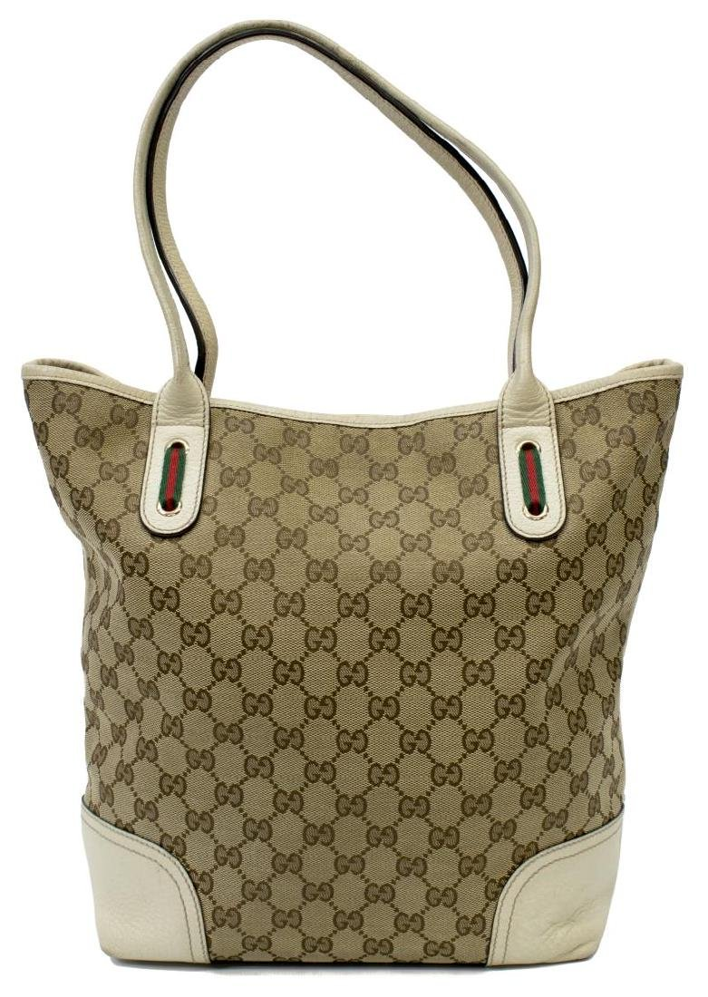 GUCCI PRINCY GG CANVAS & LEATHER TALL TOTE BAG - 2