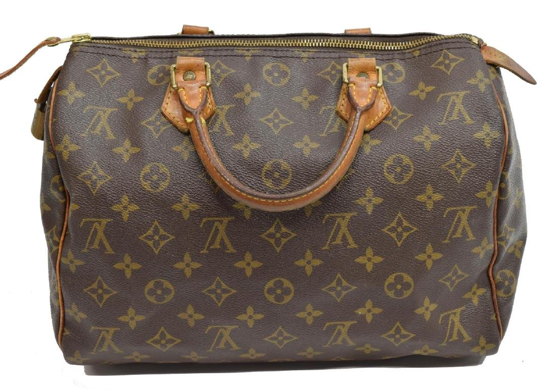LOUIS VUITTON 'SPEEDY 30' MONOGRAM CANVAS HANDBAG - 2