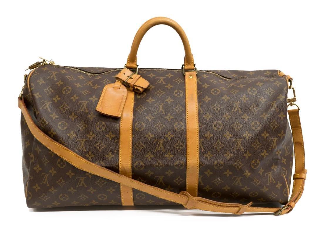 LOUIS VUITTON 'KEEPALL BANDOULIERE 55' DUFFLE BAG