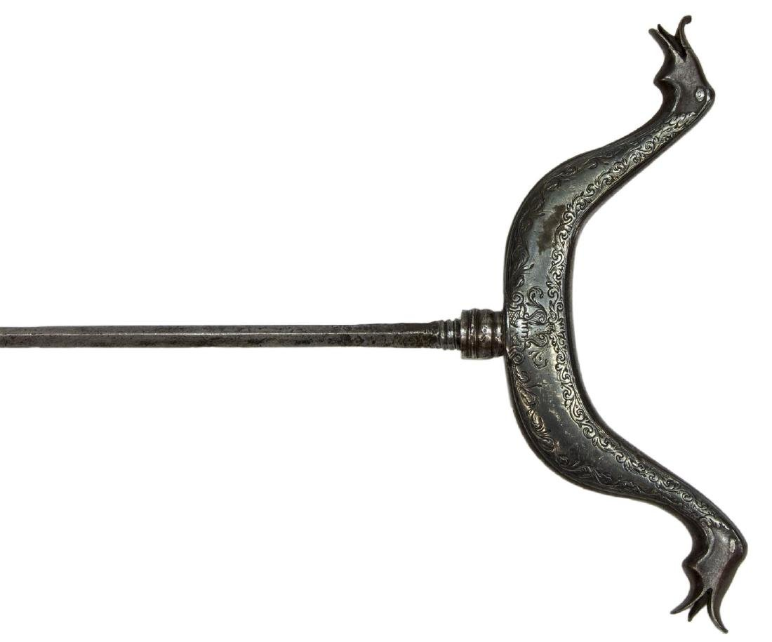 ANTIQUE RIFLE REST WITH HIDDEN SWORD - 3