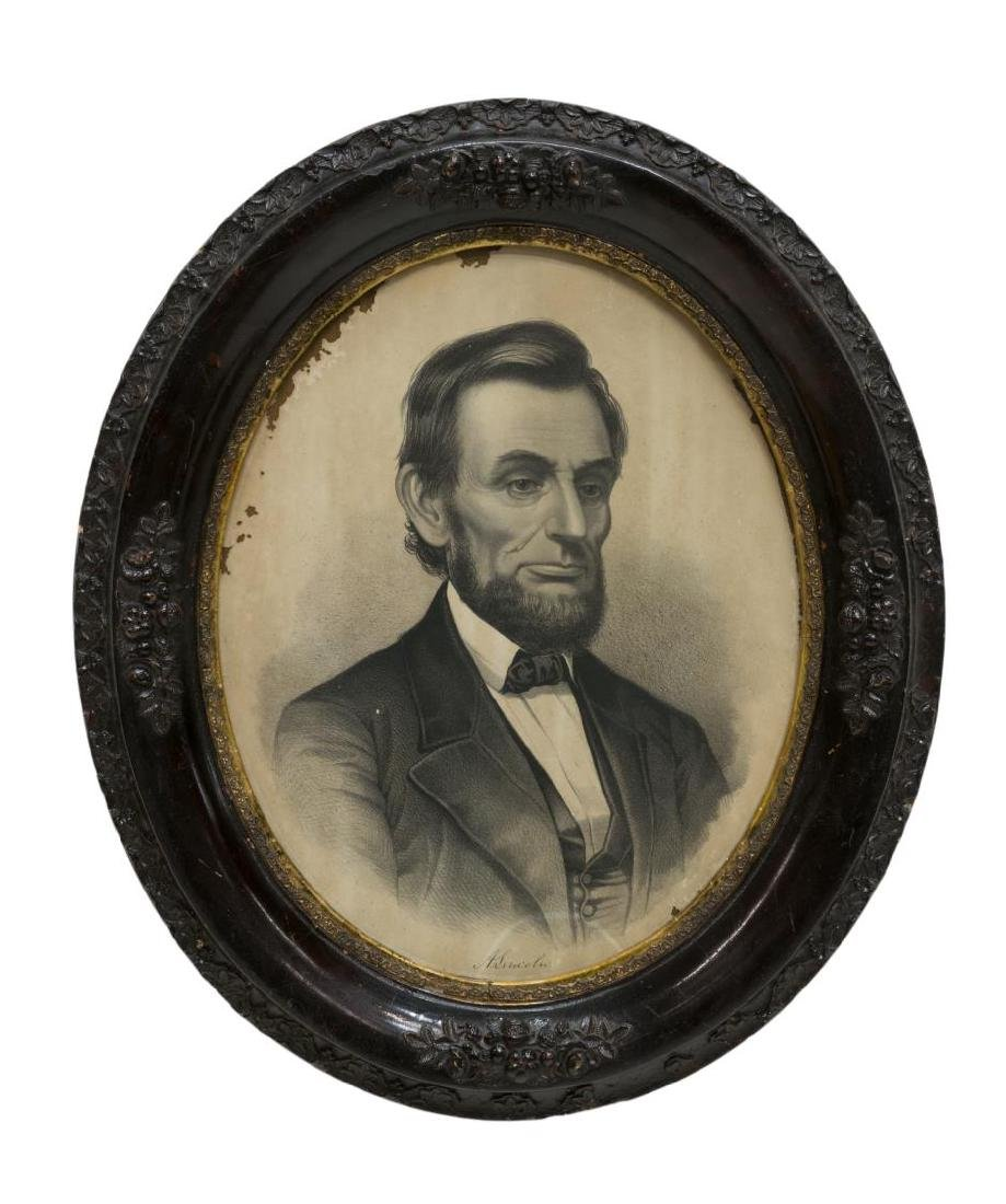 (2)ENGRAVINGS, WASHINGTON FAMILY & ABRAHAM LINCOLN