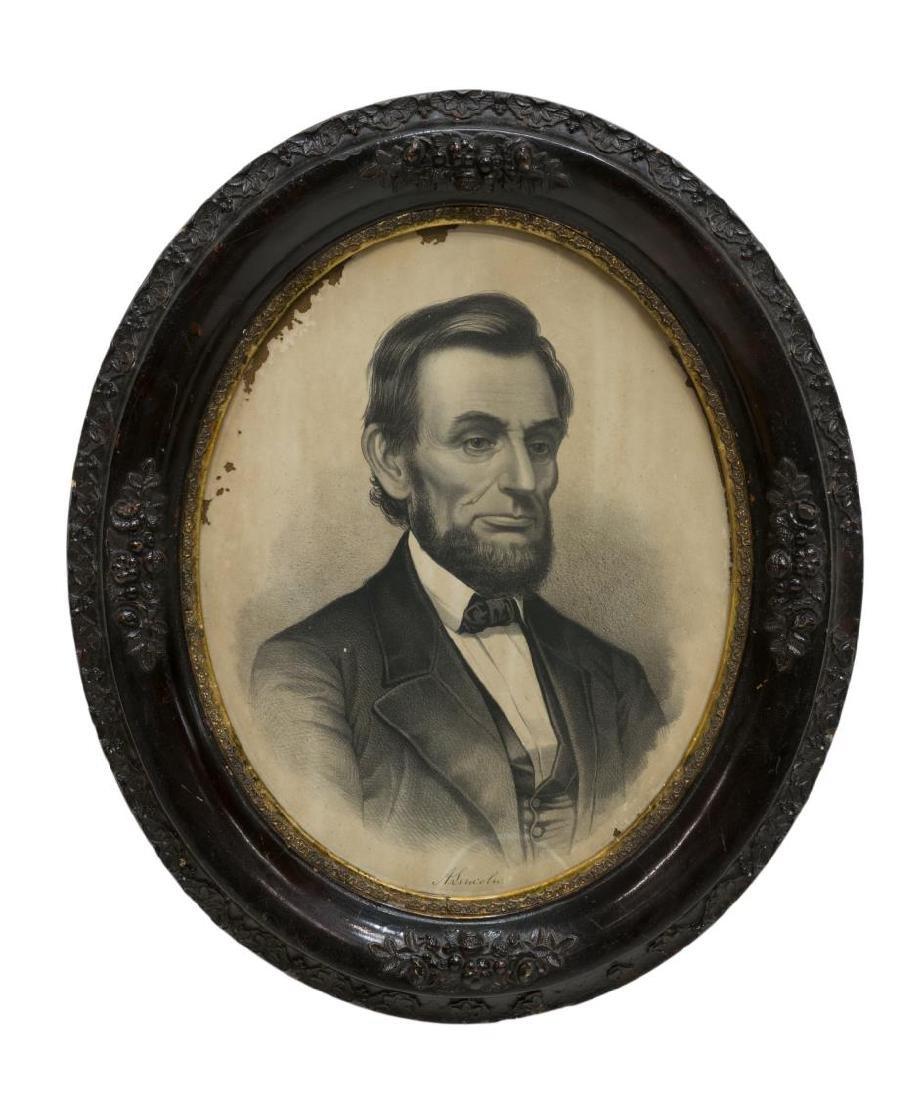 (2)ENGRAVINGS, WASHINGTON FAMILY & ABRAHAM LINCOLN