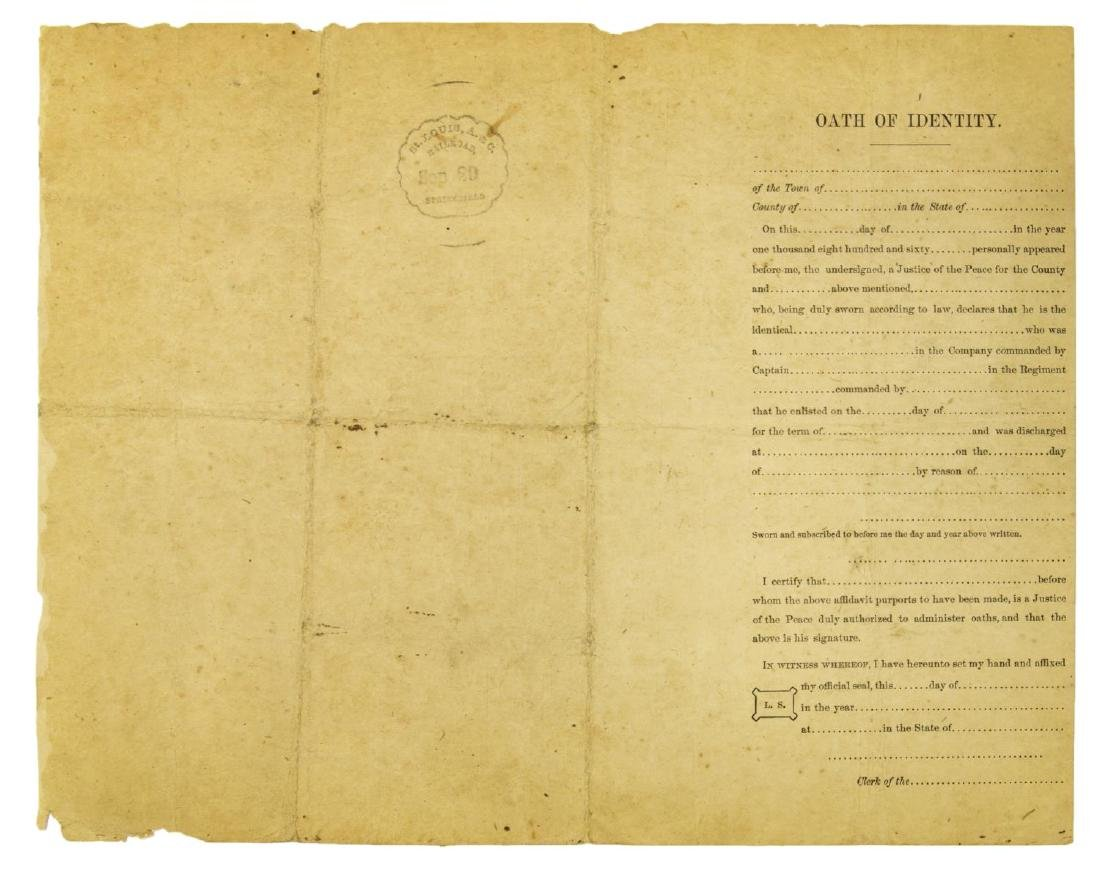(2) U.S. CIVIL WAR MILITARY DISCHARGE CERTIFICATES - 3