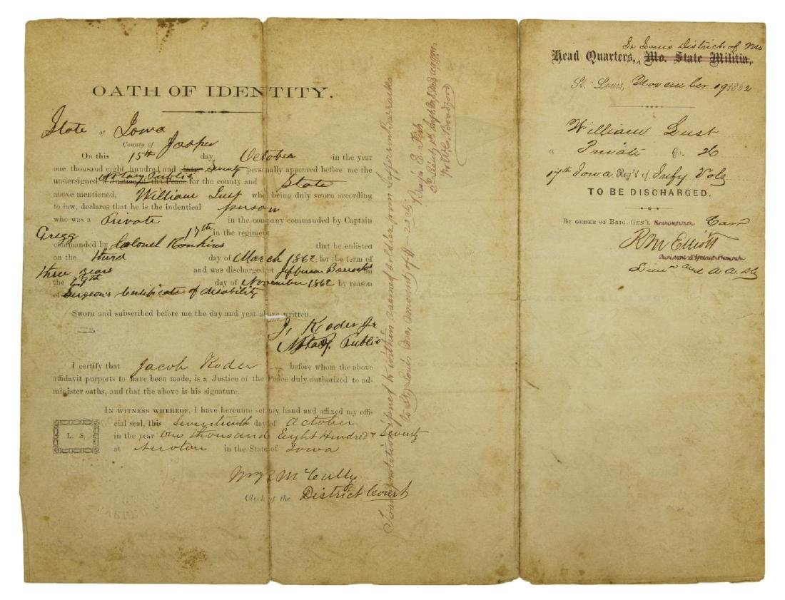 (2) U.S. CIVIL WAR MILITARY DISCHARGE CERTIFICATES - 5