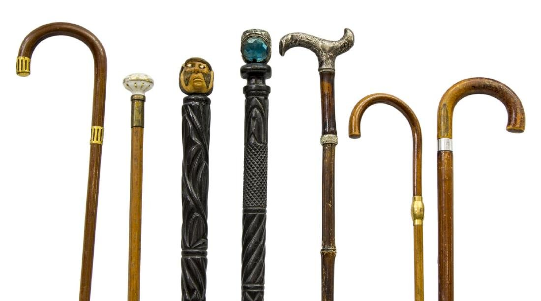 (7) COLLECTION OF VINTAGE WALKING STICKS OR CANES