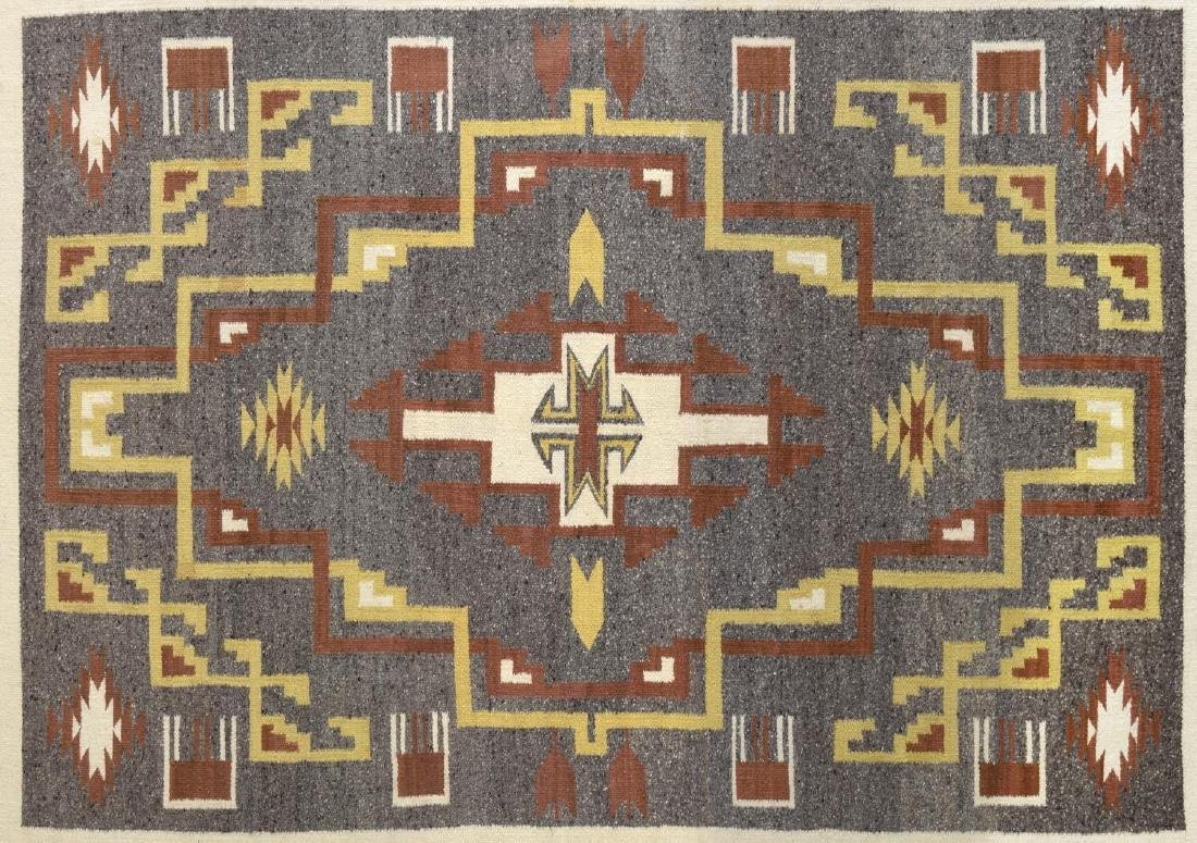 FRAMED NAVAJO BURNTWATER WOVEN RUG - 2