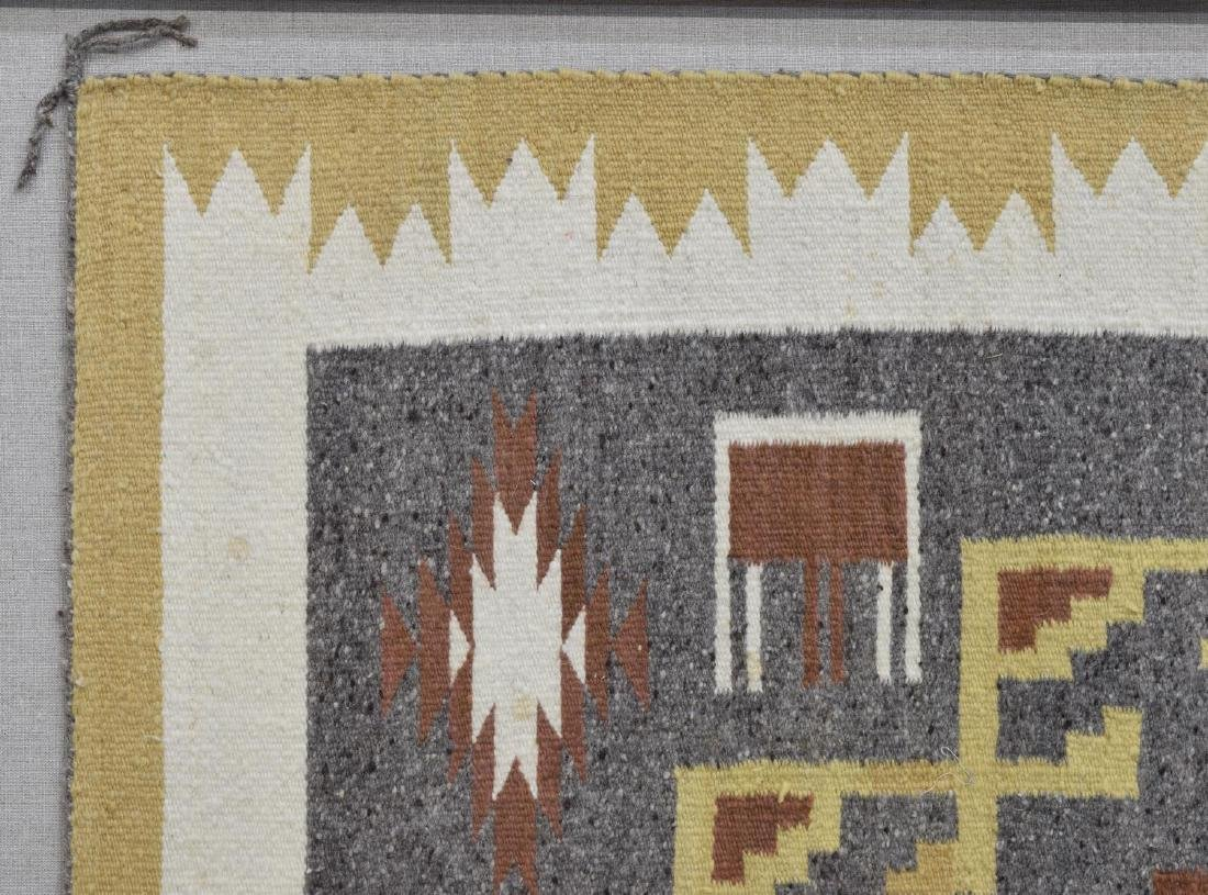 FRAMED NAVAJO BURNTWATER WOVEN RUG - 4