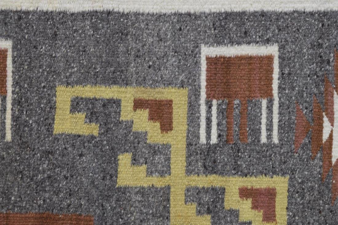 FRAMED NAVAJO BURNTWATER WOVEN RUG - 5
