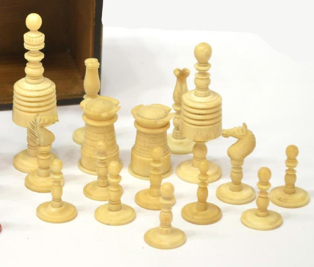 U.S. CIVIL WAR ERA CHESS SET, 32 PIECES - 5