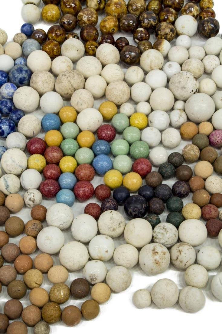 (400) ANTIQUE CLAY MARBLES, CIVIL WAR, CHINA - 2