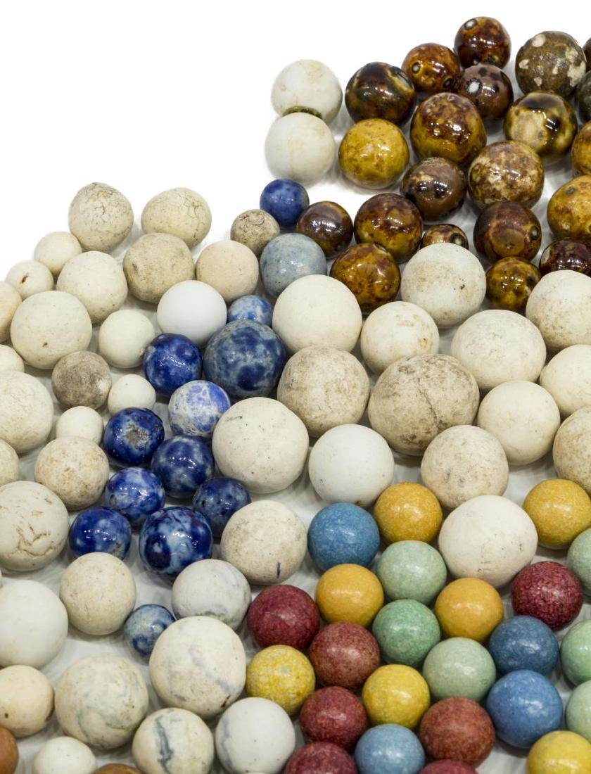 (400) ANTIQUE CLAY MARBLES, CIVIL WAR, CHINA - 3