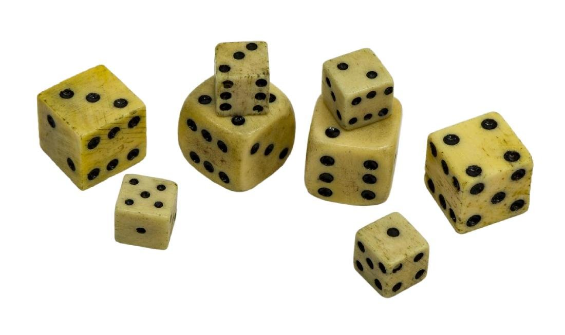 (4 PAIR) BRITISH TAX MARK REVOLUTIONARY WAR DICE