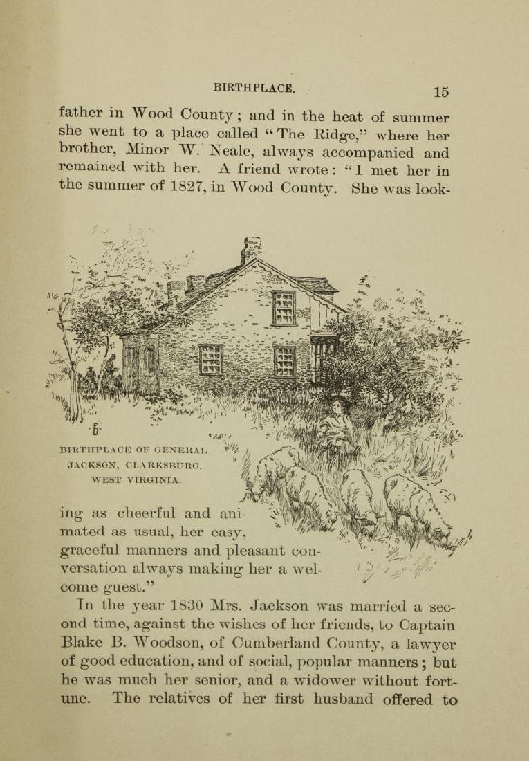 BOOK: MEMOIRS CSA GENL. STONEWALL JACKSON, 1880, - 5
