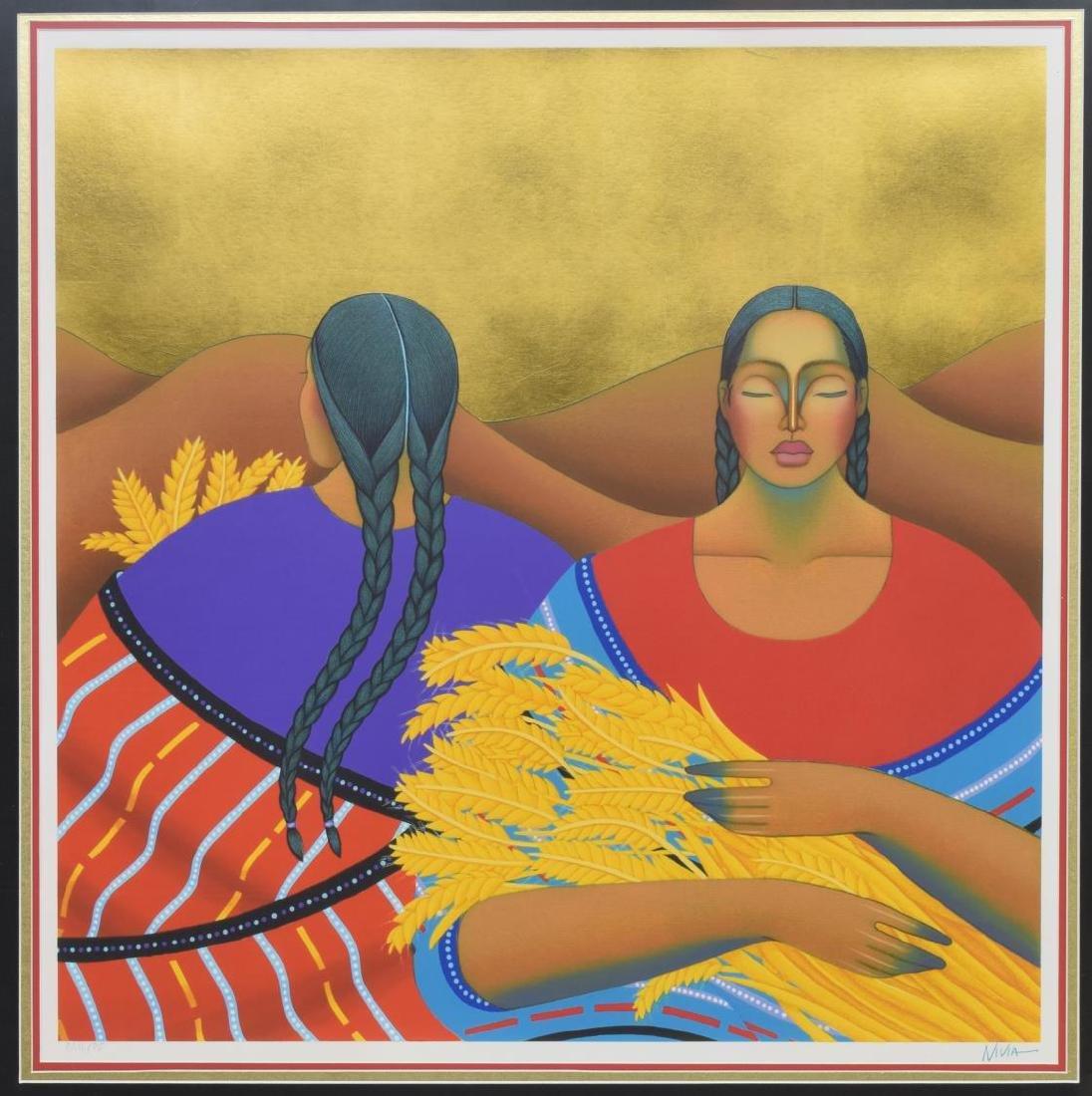 FRAMED NIVIA GONZALEZ (TX) GOLD LEAF SERIGRAPH