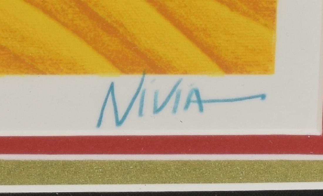 FRAMED NIVIA GONZALEZ (TX) GOLD LEAF SERIGRAPH - 4