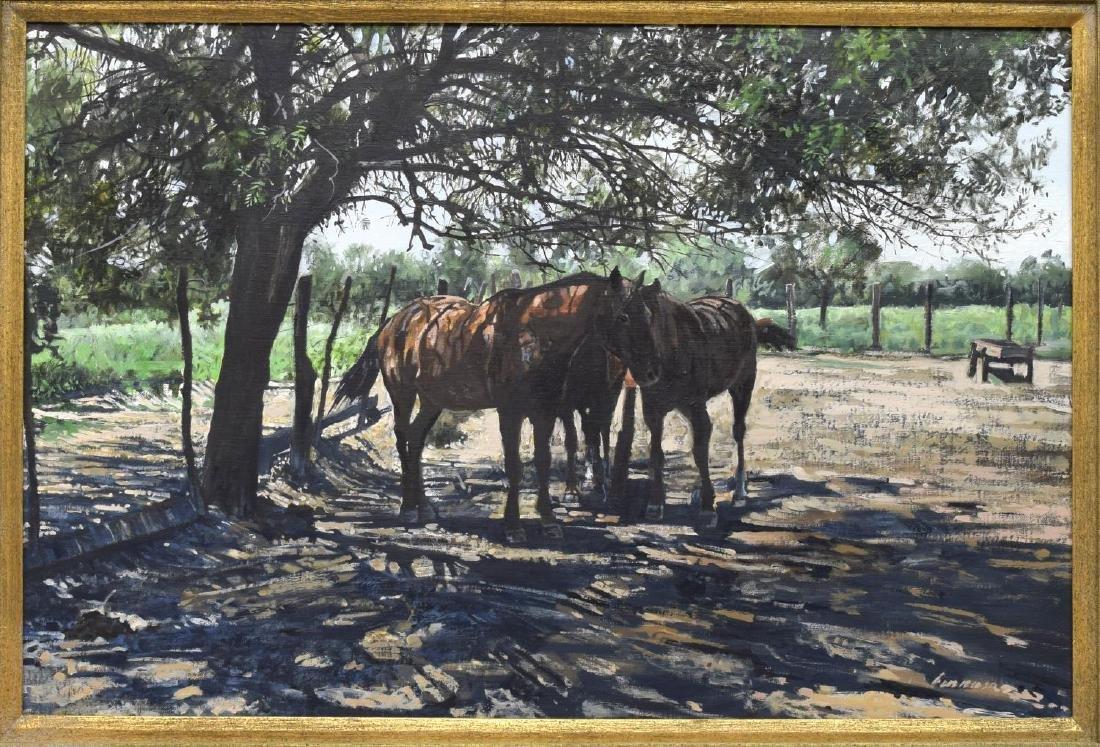 RAGAN GENNUSA (TX, B.1944) OIL ON CANVAS PAINTING