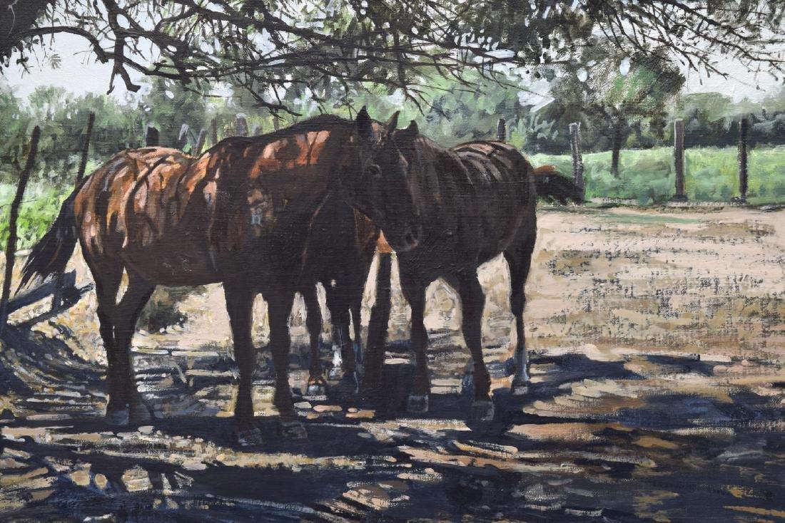 RAGAN GENNUSA (TX, B.1944) OIL ON CANVAS PAINTING - 3