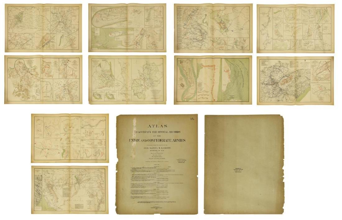 (10) OFFICIAL 1892 CIVL WAR MAPS BY US GOVT
