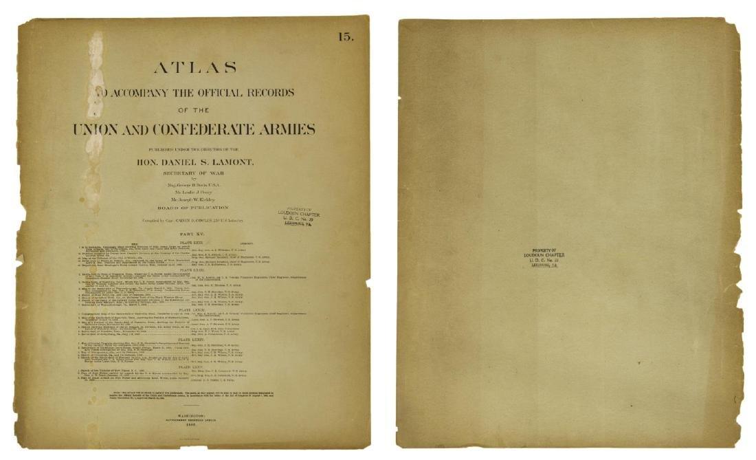 (10) OFFICIAL 1892 CIVL WAR MAPS BY US GOVT - 2