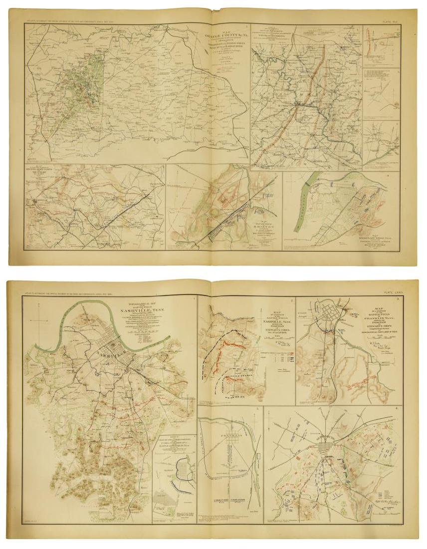 (10) OFFICIAL 1892 CIVL WAR MAPS BY US GOVT - 3