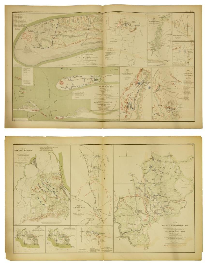 (10) OFFICIAL 1892 CIVL WAR MAPS BY US GOVT - 4