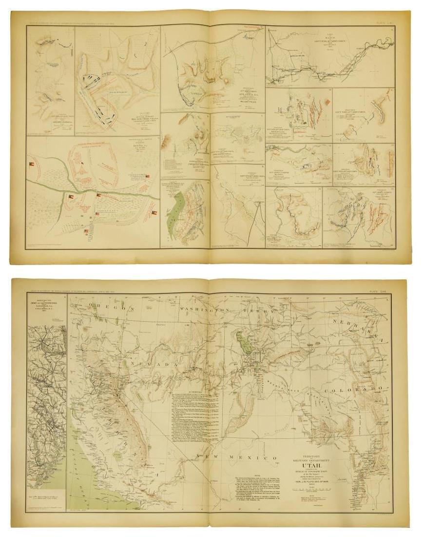 (10) OFFICIAL 1892 CIVL WAR MAPS BY US GOVT - 5