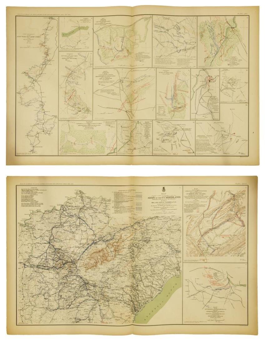 (10) OFFICIAL 1892 CIVL WAR MAPS BY US GOVT - 6