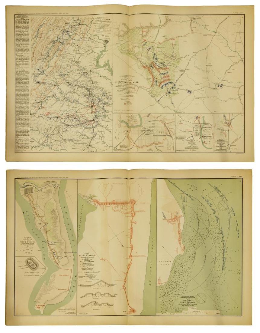 (10) OFFICIAL 1892 CIVL WAR MAPS BY US GOVT - 7