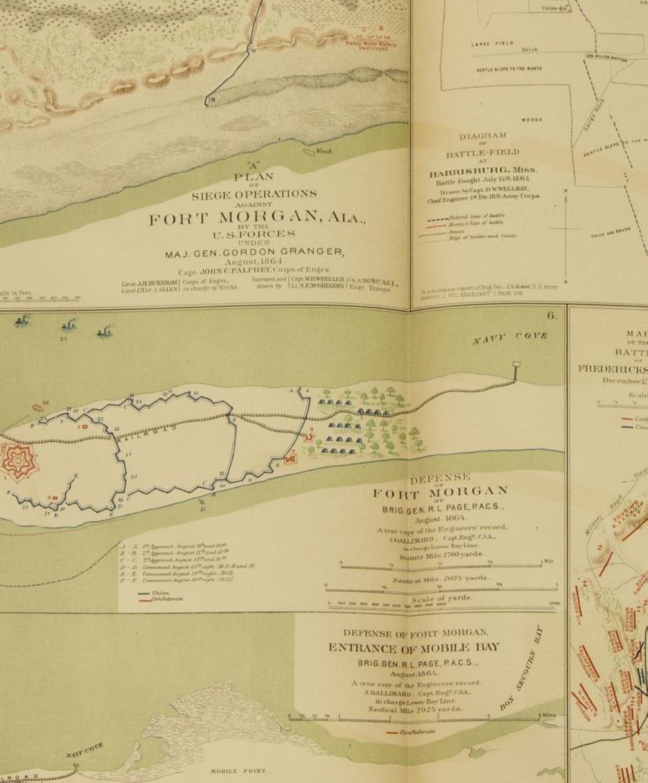 (10) OFFICIAL 1892 CIVL WAR MAPS BY US GOVT - 8