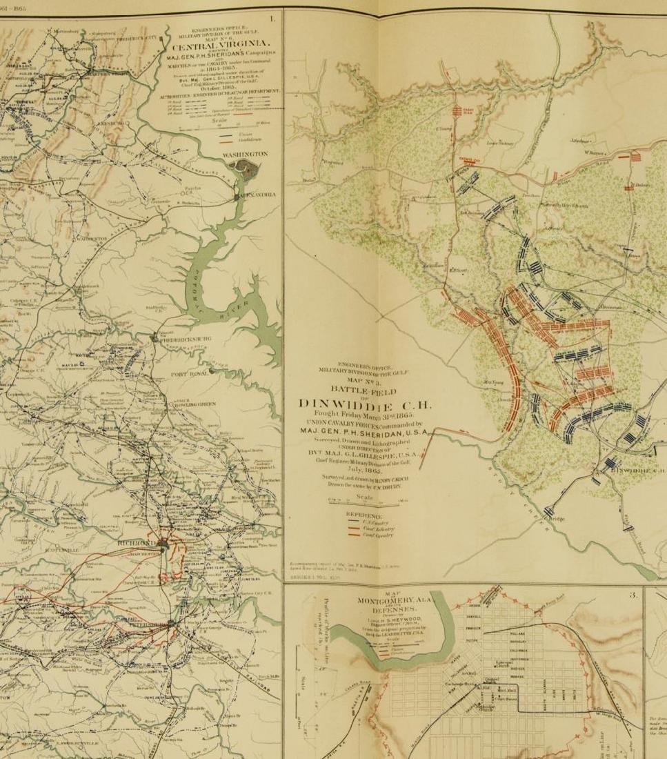 (10) OFFICIAL 1892 CIVL WAR MAPS BY US GOVT - 9